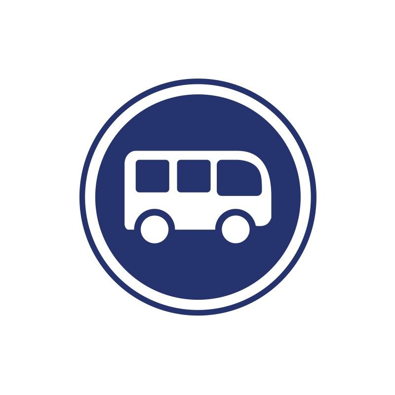 Met het minibusje